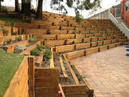 landscape timbers retaining wall s 6 6 railroad tie garden pertaining to interesting landscape timber
