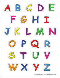 These free to print, number, letter and bubble letter coloring sheets are great additions to your teaching resources when teaching alphabets (abc's) and simple numbers to preschool and. Alphabet Upper Case Letters Free Printable Templates Coloring Pages Firstpalette Com