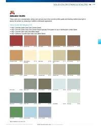 Concrete Sealer Color Chart Sherwin Williams Concrete Sealers Solid Color Stains Sealers