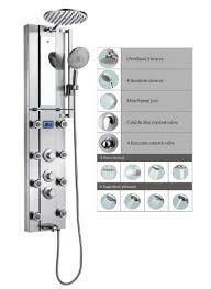 blue ocean 52 stainless steel spv962332 thermostatic shower panel