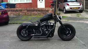 harley custom bobber fresh from c w fabrications is that a