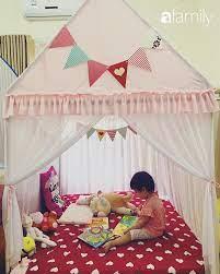 Mẹ 9x Hạ Long tự tay làm cho con chiếc lều bằng ống nước đẹp như lều công  chúa