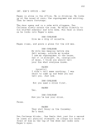 Movie Script Example The Godfather Sample Script Page Writing Basics Film School Online