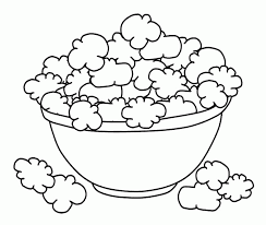 Small Picture Popcorn Day Coloring Pages Bowl Popcorn Coloring Page Kids
