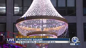 my ohio lighting giant chandelier in cleveland s playhouse square prompts thoughts on the theater d you