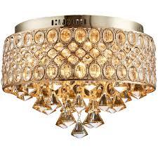 gold flush ceiling light fixtures flush mount gold led ceiling lamp led crystal lights e14
