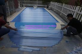 above ground pool swimming pool control system transpa blue pvc material cover