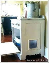 hidden cat box furniture. Hidden Cat Litter Box Furniture Kitty White Wood .