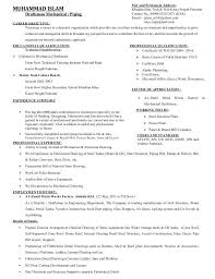 Draftsman Resumes Civil Draughtsman Resume Sample Professional Resume