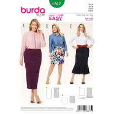 Plus Size Skirt Patterns Mesmerizing Misses Plus Size Skirt Burda Sewing Pattern 48 Sew Essential