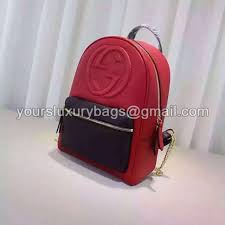 gucci soho leather chain backpack 431570 red black