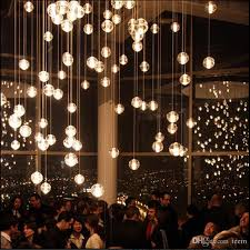 modern led crystal glass chandeliers pendant lights for stairs duplex hotel hall mall with dimmable g4 bulbs diy ceiling lighting led light glass