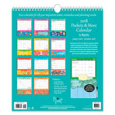 more calendars 2018 pen paint pockets more wall calendar summit studios