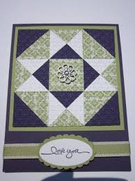 15 best Cards-Patchwork images on Pinterest | Patchwork cards ... & Quilt Card by mhbookmom - Cards and Paper Crafts at Splitcoaststampers Adamdwight.com