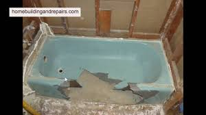 how to remove cast iron tub with big hammer bathroom remodeling tips