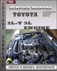Toyota Motor 2L-t 3L Engine Service Maintenance Repair Manual Online ...