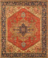area rugs serapi tribal hand knotted wool red navy area rug