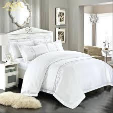 romorus whole hotel bedding set 4 6 pcs white king queen size 100 cotton white duvet