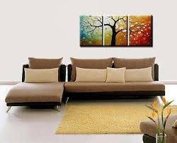 amazon phoenix decor abstract canvas wall art oil paintings on canvas for home decoration modern painting wall decor stretched ready to hang 3 piece  on wall art pieces decorating with amazon phoenix decor abstract canvas wall art oil paintings on
