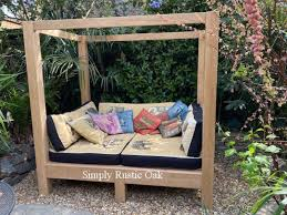 rustic oak hamilton garden daybed