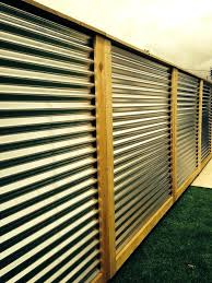 corrugated metal privacy fence decorative wood fencing metal fence designs corrugated metal fence metal build a