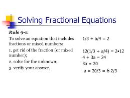 2 solving fractional