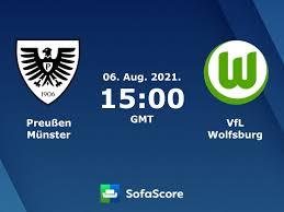 Der sc preußen münster schraubt mit bedacht am gefüge und baut die struktur abseits der 1. Preussen Munster Vfl Wolfsburg Live Ticker H2h Und Aufstellungen Sofascore