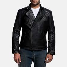 cirsova black leather biker jacket