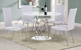 white round dining room set