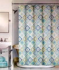 Amazon Com Peri Lilian Tile Fabric Shower Curtain In Shades Of