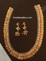 Gold Necklace Designs In 80 Grams With Price 100 Grams Antique Gold Kasu Haram 10 Thula Haram Haram