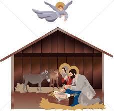 nativity stable clipart. Perfect Nativity Nativity Scene With Guiding Angel For Stable Clipart E