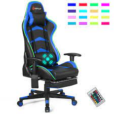 goplus mage led gaming chair