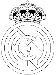 Kleurplaat Voetbal Real Madrid 24