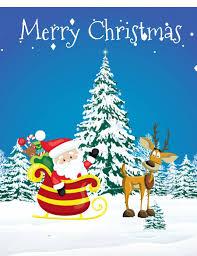 Santa Claus Christmas Card Template Postermywall