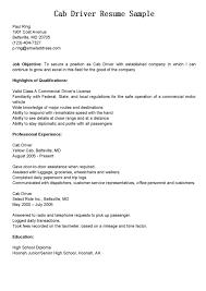 Taxi Cab Driver Resume Sample - http://resumesdesign.com/taxi-