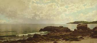 beach painting coast off grand manan by alfred thompson bricher