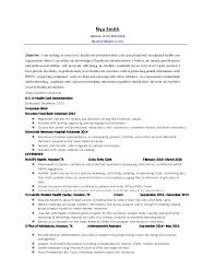 nya smith health care administration resume 2016 .
