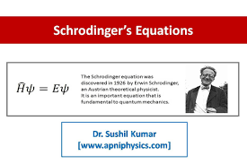apniphysics schrodinger s time independent and time dependent wave equations