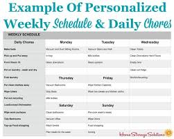 weekly schedule example how to make a personalized daily cleaning checklist for your