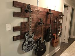 diy guitar wall mount beautiful luisa s guitar display idea wood wood glue tons of