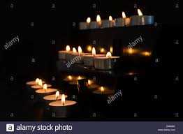 alter lighting. Candles At The Alter In Darkness - Stock Image Lighting