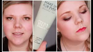 new make up for ever step1 primer review and demo