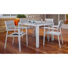 5 piece outdoor dining set. Modway Maine 5 Piece Outdoor Dining Set In White And Light Gray I