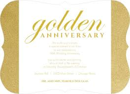 50th Anniversary Party Invitations Shimmering Golden 50th Anniversary Party Invitation