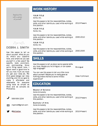 Resume Template Word 2010 | Mhidglobal.org