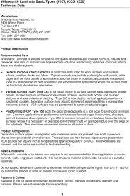 Wilsonart Laminate Cross Reference Chart Wilsonart Laminate Basic Types 107 335 350 Technical