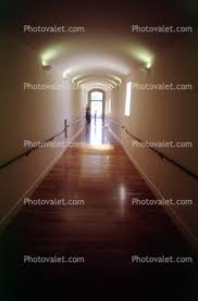 hallway vanishing point. hall hallway vanishing point door