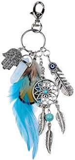 Dremisland <b>Keychain Keyring</b> Natural Opal Stone <b>Dreamcatcher</b>