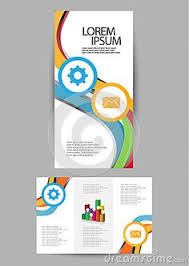photo about ilration of tri fold business brochure design 44173324